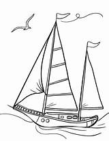 Coloring Sailboat Pages Printable Sail Coloringcafe Pdf Boat Sailboats Sheet Drawing Ship Print Sheets Prints Beach Vehicle Bernardo Button Standard sketch template