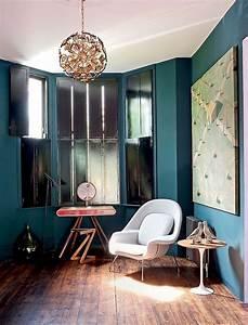 Deco Bleu Canard : d co salon bleu canard paon p trole du goudron et des plumes obsigen ~ Teatrodelosmanantiales.com Idées de Décoration
