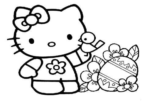 Ausmalbilder Ostern Hello Kitty