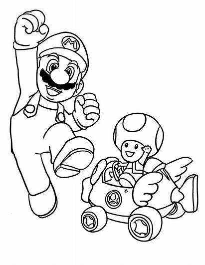 Mario Coloring Pages Bros Super Brothers Printable