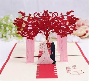 10pcs hollow bride and groom handmade kirigami origami 3d With wedding invitation pop up card bride and groom