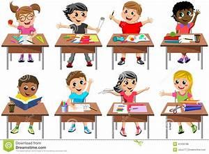 Image D Enfant : salle de classe heureuse d 39 cole de bureau d 39 enfant d 39 enfants d 39 isolement illustration de ~ Dallasstarsshop.com Idées de Décoration
