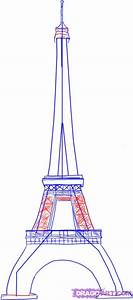 How To Draw The Eiffel Tower Step By Step Monuments