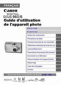 Multimetre Digital Mode D Emploi : notice canon digital ixus 960 is appareil photo trouver ~ Dailycaller-alerts.com Idées de Décoration
