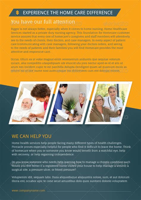 Home Health Care Brochure Templates by Home Care Brochure Templates By Grafilker Graphicriver