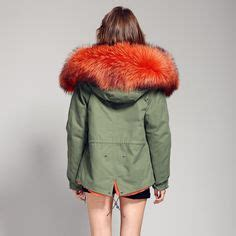 parka interieur fourrure femme fur collars parkas and army green jackets on