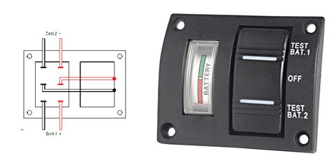 marine switches panel battery bank volt meter  su