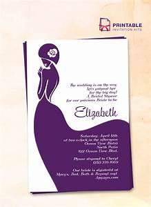 bridal shower invitation lady bride wedding invitation With brides printable wedding invitation kits template