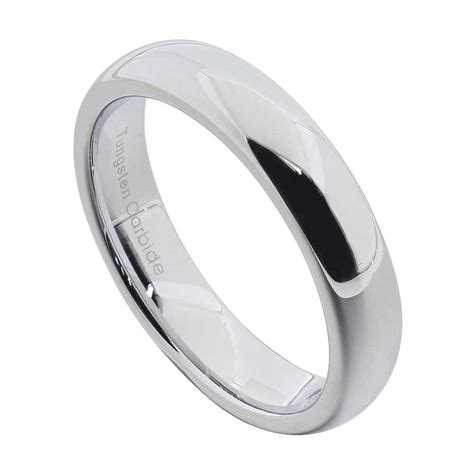 tungsten carbide silver polished wedding band men womens engagement bridal ring ebay