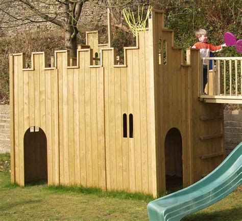 Toy wood castles for sale. All Out Play Castle and Tower Combination Wooden Playhouse