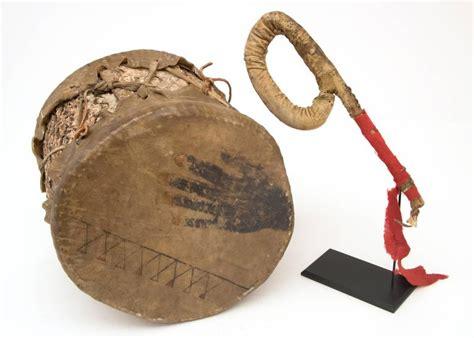 Early 20th Century Zia Pueblo Pueblo Drum And Plains Striker Early 20th