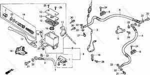 Honda Atv 1998 Oem Parts Diagram For Front Brake Master