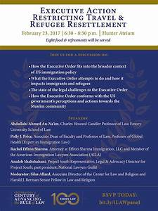 """Emory Law's Event """"Executive Action Restricting Travel and ..."""