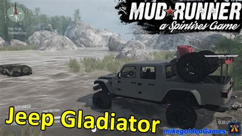 jeep gladiator rescuing  willys spintires mudrunner youtube