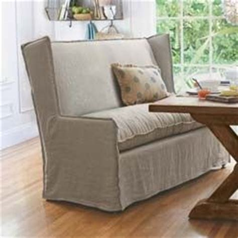 Slipcovered Settee by Slipcovered Settee Chair