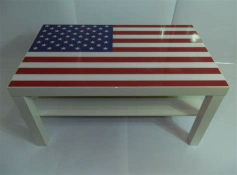 Rustic wood flag coffee table with rustic burnt finish! American Flag Coffee Table Made With High Gloss Epoxy Finish