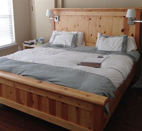 wonderful king size bed frame plans design decor bed