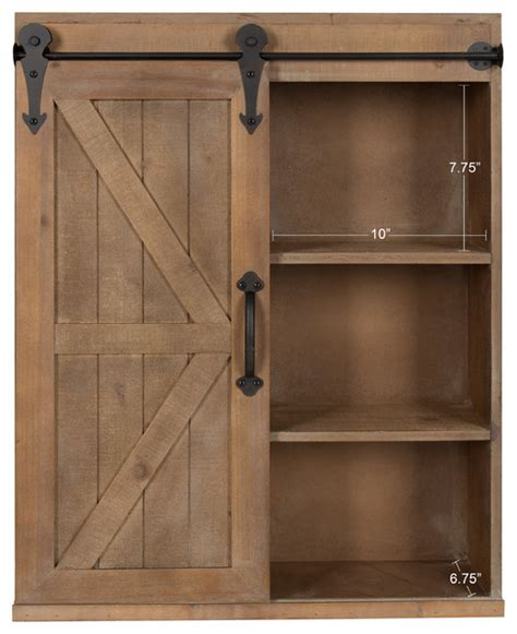 Wall Cupboards With Sliding Doors by Wood Wall Storage Cabinet With Sliding Barn Door
