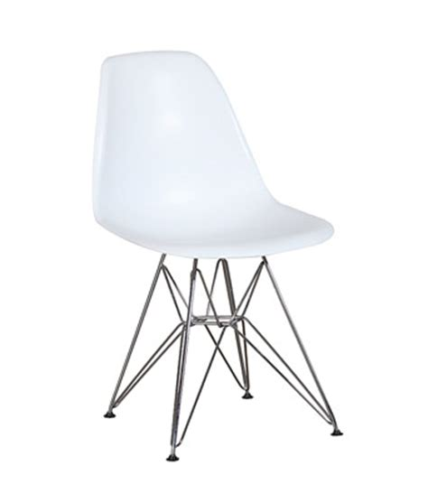 eames plastic side chair white wire miami event tables