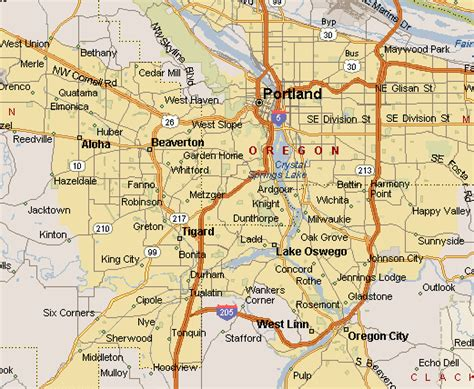 map  greater portland oregon metro area pictures  pin