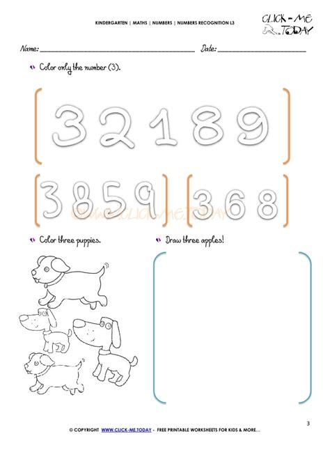 numbers recognition worksheets