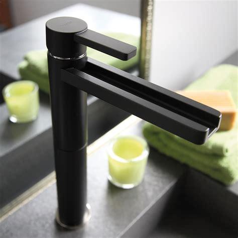 aqua black mat high  bathroom faucet
