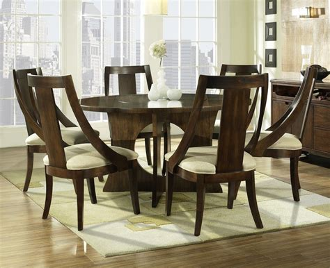 HD wallpapers round walnut dining table and chairs