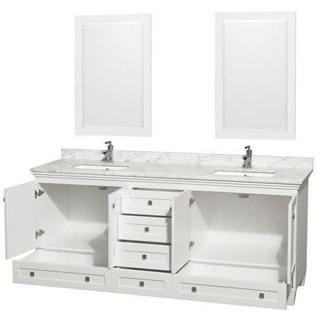 80 inch double sink bathroom vanity acclaim 80 quot white double bathroom vanity set wyndham