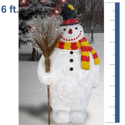 barcana 55 5009 snowman with broom and hat 6 ft