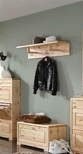 Wandgarderobe Mit Hutablage : wandgarderobe guldborg garderobe mit hutablage 3 haken kiefer massiv ~ Eleganceandgraceweddings.com Haus und Dekorationen