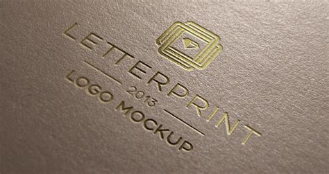 ✓ free for commercial use ✓ high quality images. Gold Relief Logo Mock-Up Template | Psd Mock Up Templates ...