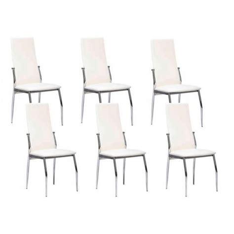 city lot 6 chaises blanches achat vente chaise salle a manger pas cher couleur et design fr