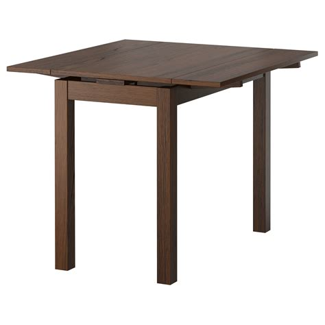 up to 4 sets small drop leaf dining table for small dining spaces painted with dark brown color