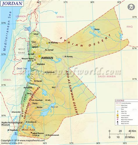 jordan map maps pinterest rivers middle east  jerash