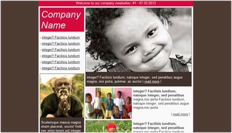 charity email newsletter templates email newsletter