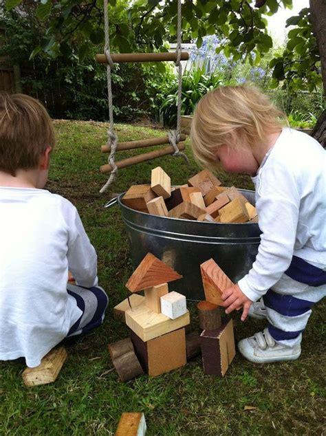 bucket   blocks   scrap wood