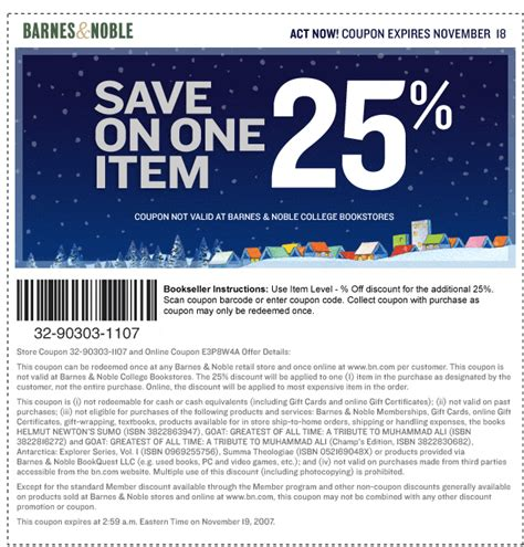 Barnes And Noble 25 by Barnes Noble 25 And 50 Coupon Hustler Money
