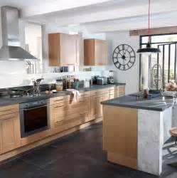 cuisine kadral en bois naturel castorama photo 8 20 la