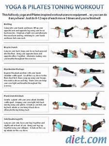 Yoga & Pilates Toning Workout | Exercises | Pinterest ...