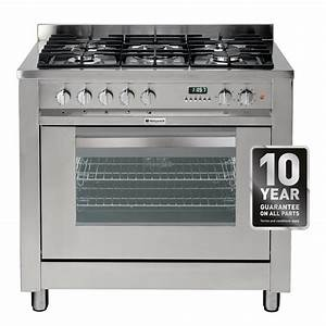Hotpoint Eg900xs 90cm Dual Fuel Range Cooker In Stainless