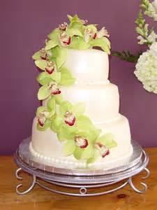 wedding cake design ideas orchids chic wedding cake