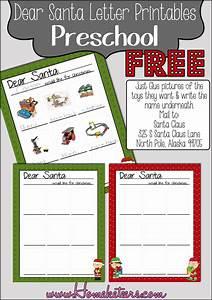 dear santa preschool printables free With toddler letter to santa