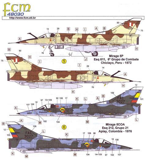Fcm Decals 1/48 Dassault Mirage Iii & Mirage 5 In Latin