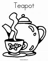 Coloring Teapot Tea Pages Cup Pot Printable Caliente Party Template Drink Boston Clip Little Noodle Print Drawing Saucer Colouring Cups sketch template