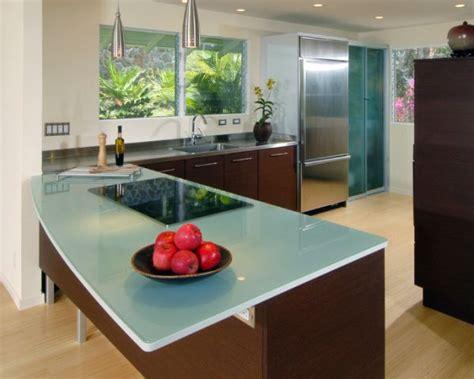 glass top kitchen island 13 alternatives to granite kitchen counters