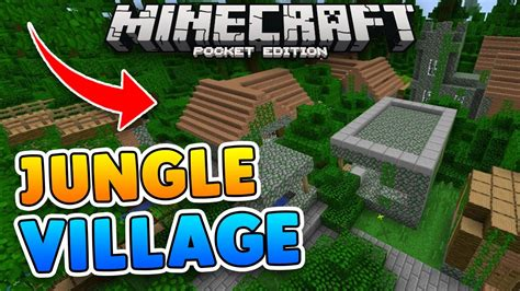 Rare Jungle Village Seed W/ Jungle Temple!! Minecraft Pe