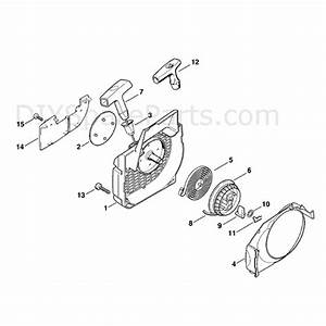 Stihl Ms 250 Chainsaw  Ms250  Parts Diagram  Rewind Starter
