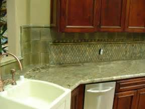 Green Backsplash Kitchen Green Kitchen With Granite And Tile Backsplash Stocker Tile
