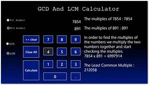 Image Gallery Lcm Calculator