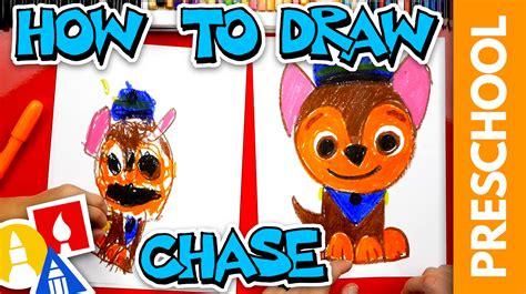 draw chase  paw patrol preschool art